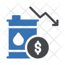 Decrease Oil Rate Decrease Oil Market Dollar Icon