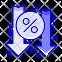 Decrease Rate Icon