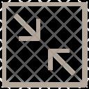 Arrows Diagonal Shrink Icon