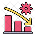 Decrease Virus Graph Icon