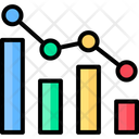 Business And Finance Data Analytics Line Graph Icon