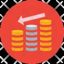Decreasing Chart Coins Icon