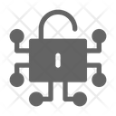 Decryption Lock Cryptocurrency Icon