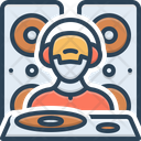 Dejaying People Disco Icon