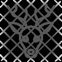 Deer Reindeer Face Icon