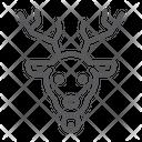 Christmas Deer Elk Icon