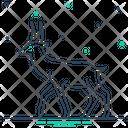 Deer Stag Reindeer Icon