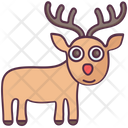 Reindeer Wild Animal Stag Drawing Icon