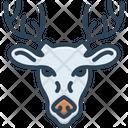 Deer Animal Antler Icon