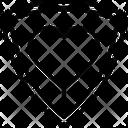 Defense Guard Heart Shield Icon