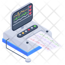 Ekg Machine Ecg Monitoring Machine Electrocardiogram Icon