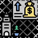 Graph Prosperous Deflation Icon