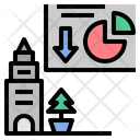 Graph Deflation City Icon