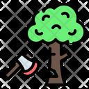 Deforestation Tree Forest Icon