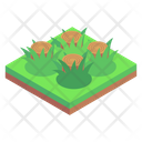 Deforestation Cutted Trees Tree Stumps Icon