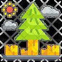 Deforestation Tree Cutting Wood Icon