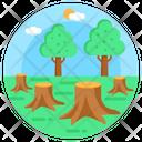 Cutting Down Deforestation Destroy Forest Icon