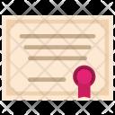 Degree Certificate Contract Icon
