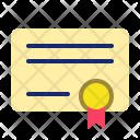 Certificate Reward Diploma Icon