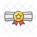 Degree Certificate Achievement Icon