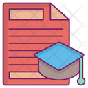 Collage Degree Loan Agreement Icon