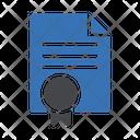 Certificate Document File Icon