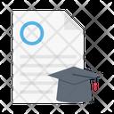 Degree Document Hat Icon