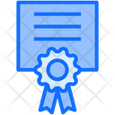 Degree Certificate Online Graduation Icon