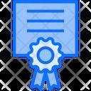 Degree Certificate Education Icon