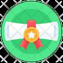 Achievement Certificate Accreditation Icon