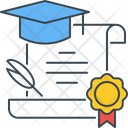 Degree certificate Icon