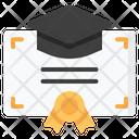 Degree Certificate Diploma Icon
