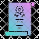 Certificate Diploma Graduation Icon