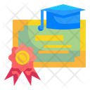 Degree Certificate Diploma Certificate Diploma Icon