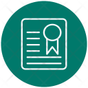 Degree Diploma Certificate Icon
