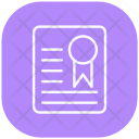 Degree Diploma Certification Icon