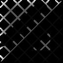 Set Square Degree Icon