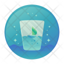 Dehydrated Water Glass Icon