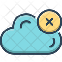 Cloud Delete Computing Icon