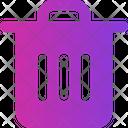 Delete Bin File Trash Can Icon