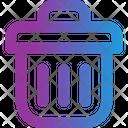 Delete Trash Bin File Icon