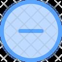 Delete Minimize Minus Icon