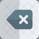 Delete Backspace Key Icon