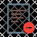 Delete Minus Remove Icon
