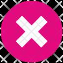 Delete Stop Cancel Icon