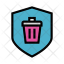 Delete Trash Sheild Icon
