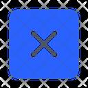 Delete Cross Remove Icon