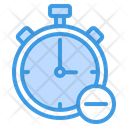 Delete Time Time Clock Icon