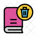 Delete Book Trash Icon