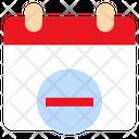 Delete Agenda Calendar Icon